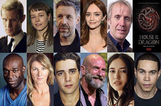 Dizinin kadrosundaki bizi bekleyen yeni isimler ise 'Doctor Who'dan tanıdığımız Matt Smith, Viserys Targaryen'i canlandıracak Paddy Considine, Prenses Rhaenyra rolünde Emma D'Arcy gibi başarılı oyuncular.