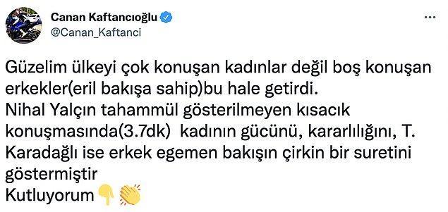 CHP İstanbul İl Başkanı Canan Kaftancıoğlu da olay karşısında sessiz kalmadı.