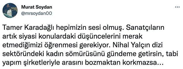 Tepkilerin sebepleri arasında Yalçın'ın ödül konuşmasında #İstanbulSözleşmesiYaşatır söylemlerine yer vermesi de vardı.