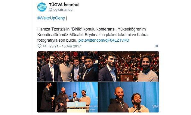 Vakıf, Türkiye Cumhuriyeti Kurucusu Mustafa Kemal Atatürk için şeytan ifadelerini kullanan Yunan yazar Hamza Tzortzis'e de plaket vermişti.