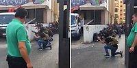 Beyrut'ta Sülalesi Rahat Bir Şekilde Çatışma İzleyen Dayının Efsane Görüntüleri