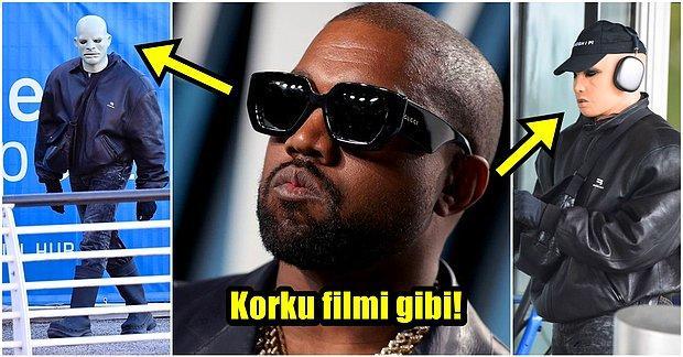 Hiçbir Hareketine Akıl Sır Erdiremediğimiz Kanye West Tanınmamak İçin Plastik Maske Taktı!