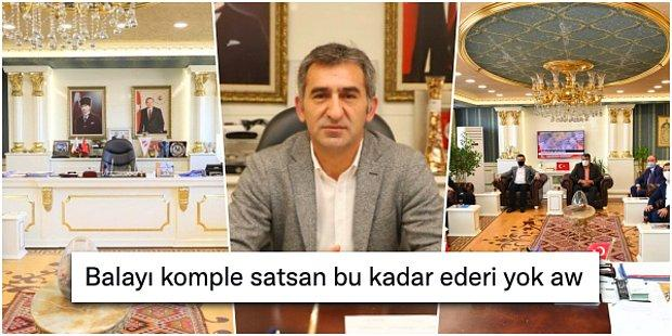 Bala'nın Ak Partili Belediye Başkanı Ahmet Buran'ın Altın Varaklı Makam Odası Tartışma Yarattı!