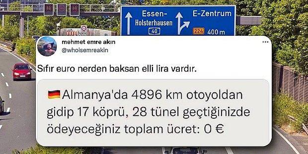 Türkiye'de Geçerken Böbrek Satmayı Düşündüren Otoyol, Köprü ve Tüneller Almanya'da Ücretsiz mi?