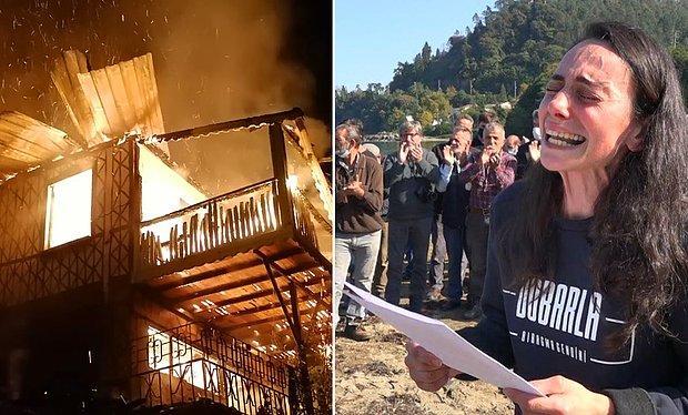 Trabzon'da Denizi Kirleten Kültür Balıkçılığına Karşı Çıkan Ressam Gökçe Erhan'ın Evi Yakıldı