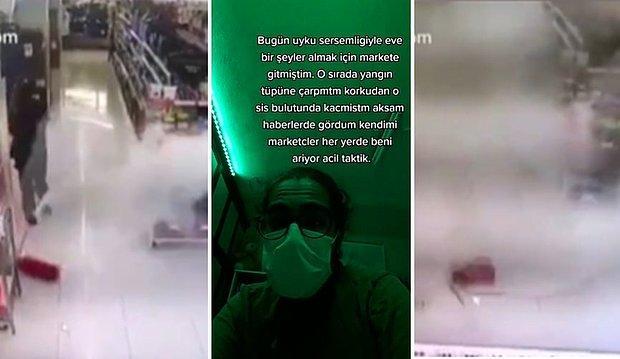 Uyku Sersemi Gittiği Markette Yangın Tüpünü Düşüren Gencin Akşam Haberlerde Kendini Gördüğü Efsane Olay
