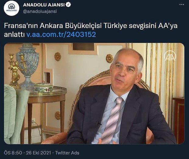 Anadolu Ajansı Sınır Dışı Edilmek İstenen Büyükelçinin 'Türkiye Sevgisini' Anlattı